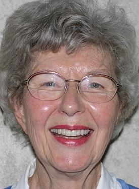 Older woman with flawless healthy smile