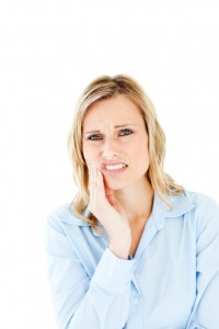 woman with pain from TMJ farmington residents can be helped by Dr. Metzger and Monet Aesthetic Dentistry